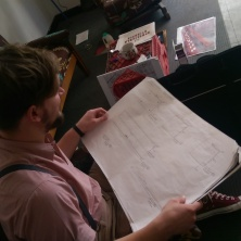 Ryan Hughes looking at the plans to make TABLE a reality