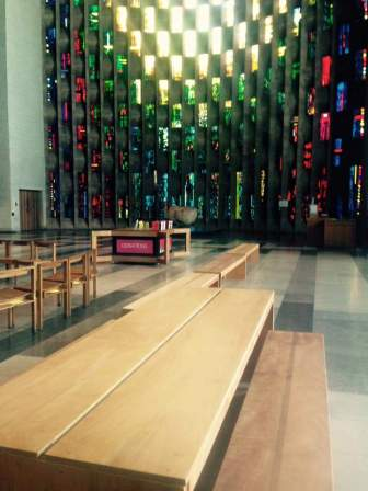 TABLE installation in Coventry Cathedral 15th June 2015