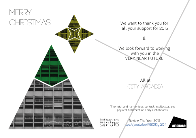 city arcadia artspace xmas card